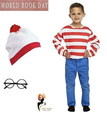 New Children Instant Kit Book Week Day Boys Girls Fancy Dress Costume Kids