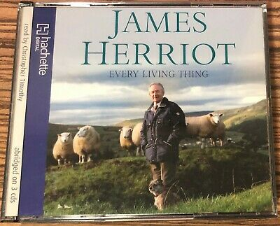 Audio Book JAMES HERRIOT Every Living Thing on 3 x CDs read by Chris Timothy