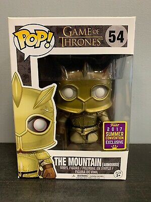 Funko Pop! Game of Thrones 54 The Mountain Armoured 2017 SDCC, Gold Armour