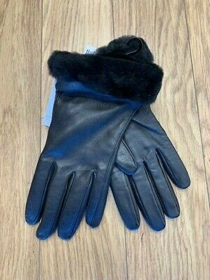 New-Women's Ugg Classic Leather Tech Gloves, Black, Large, Style: 19033  $ 89.95