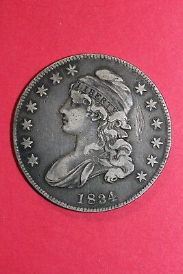 1834 Capped Bust Half Dollar Small Date Small Letters Fast FREE Shipping OCE 021
