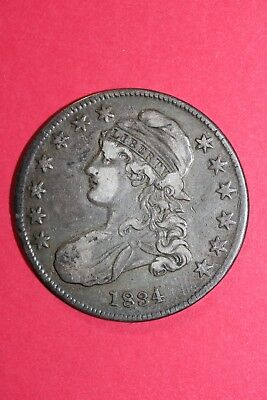 1834 Capped Bust Half Dollar Small Date Small Letters O-116 R3 OCE 015
