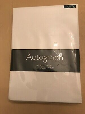 Autograph Marks And Spencer King Size White Fitted Sheet BNWT