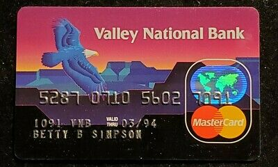 Valley National Bank Arizona MasterCard exp 1994 ♡Free Shipping♡cc894♡Eagle