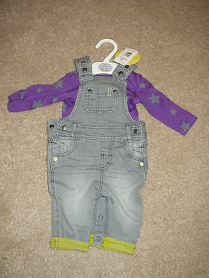 Boys Dungaree Set. 3 Months.marks & Spencer. Bnwt