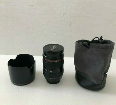 Canon EF 24-70mm f/2.8L USM Telephoto Lens with Hood and Bag