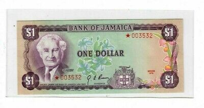 JAMAICA 1 DOLLAR 1976 Collector Series ~ STAR NOTE---CRISP UNCIRCULATED