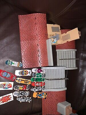 Huge Lot Tech Deck Finger Skateboard Huge Ramps Half Pipe Accessories Tony Hawk