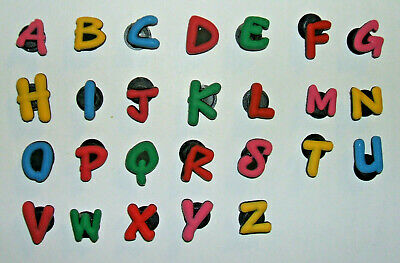 SHOE CHARMS (A1) - ALPHABET - ABC - A - Z (26AZ) pack of 26 (one of each letter)