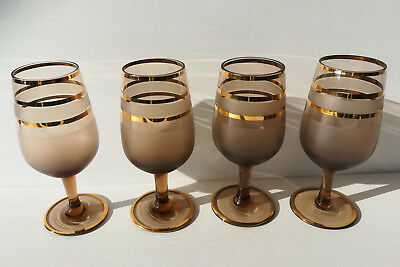 4 Amber Vintage Alcohol Aperitif Liquor Cordial Cocktail Shot Drinking Glasses