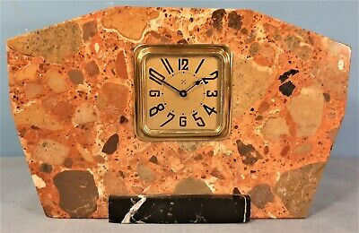 Art Deco Marble Mantel Clock with HAC Movement