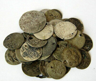 NICE VARIETY OF ISLAMIC/TURKISH SILVER MIX 55 pcs. COINS in LOT # 43C