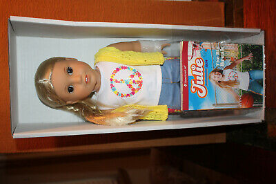 American Girl Julie Doll & Book 18 inch New Edition New In Box, No Box Top