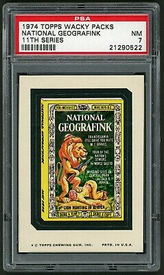 1974 Topps Wacky Packages National Geografink 11th Series PSA 7 Non-Sports