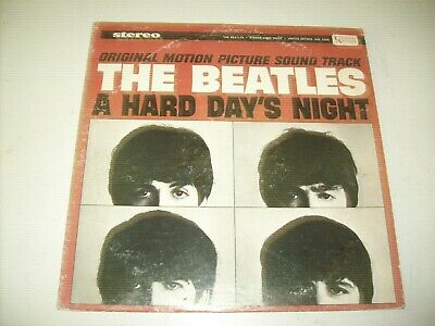 THE BEATLES-A HARD DAY'S NIGHT VINYL LP very good Stereo 1964 PSYCH ROCK