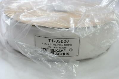 Elkay Plastics T1-03030 Poly Tubing Roll 3 Inch X 1450 FT New Sealed Packaging