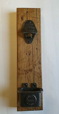 Wall mounted Cast iron bottle opener plaque - Sign- Rustic - Reclaimed - Vintage