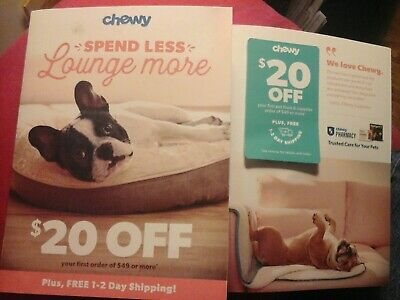 CHEWY.COM ,, SAVE $20.00 OFF YOUR FIRST ORDER OF $ 49.00  ex 04/30/2020