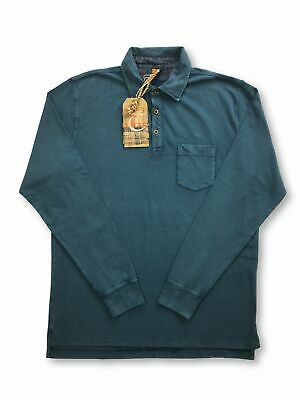 Tailor Vintage polo in teal FAULTY M