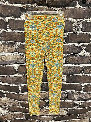 Lularoe Tween Leggings Yellow, Orange, Blue, Green Aztec Pattern