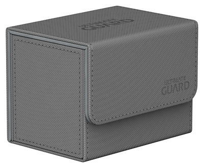 Ultimate Guard UGD010745 Sidewinder 80+ XenoSkin Flip Deck Case-Grey, Standard S