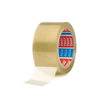 Tesa 4024 Tape for Cardboard Closure, PP Support, Acrylic in Water Emulsion Adhe