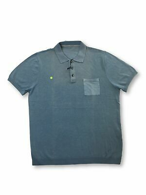 Massimo Rebecchi cotton polo shirt in light blue FAULTY