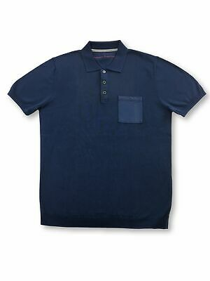 Massimo Rebecchi cotton polo shirt in dark blue FAULTY S