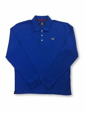 La Martina slim fit cotton polo shirt in blue FAULTY XXL