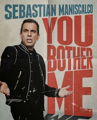 2 Tickets for Sebastian Maniscalco at Mohegan Sun Arena 3/28 Saturday SOLD OUT!