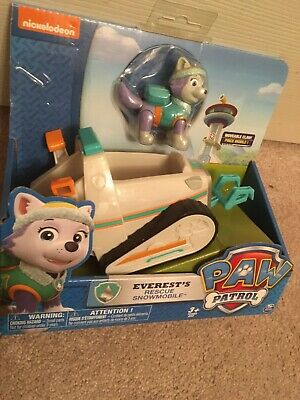 Paw Patrol Everest's Rescue Snowmobile Vehicle & Figure NEW IN BOX