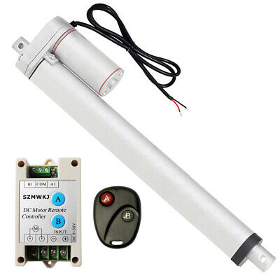 """Bundle Kit: 14"""" Linear Actuator 12V Motor +Remote Control 1500N for Traction Bed"""