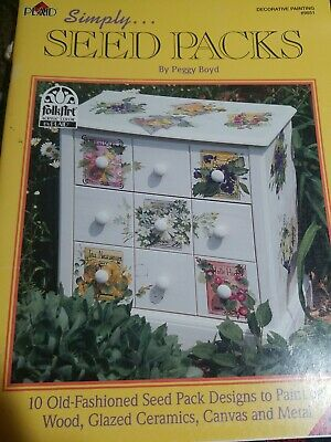 Plaid seed packs by pegg boyd Decorative Painting Book #9851