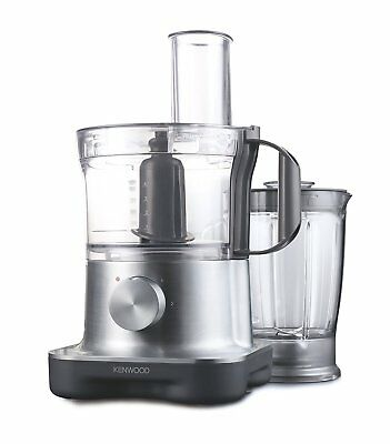 Used Kenwood FPM250 MultiPro Compact Food Processor 750W 2.1L in Brushed Metal