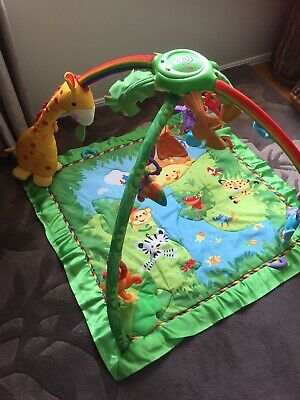 Fisher-Price Jungle baby play mat with lights, sounds and toys