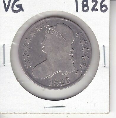 1826 CAPPED BUST HALF VG SILVER 50C Coin         PRICED TO SELL QUICKLY!