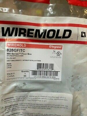 Wiremold Brass 828GFITC GFI Receptacle Cover (NEW)