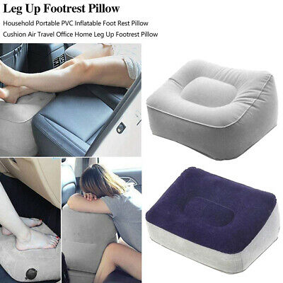 US Inflatable Portable Foot Rest Travel Footrest Pillow Plane Office Cushion Pad