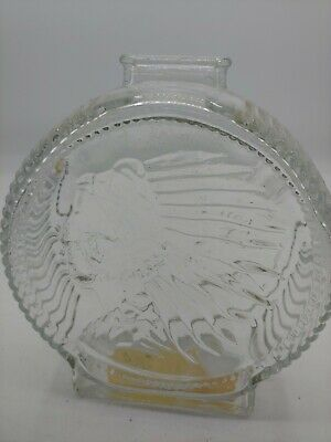 Vintage Anchor Hocking Indian Head Buffalo Nickle  Glass Coin Bank no chips