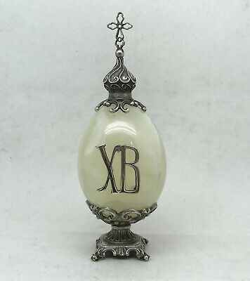 RARE Russian Imperial 84 Silver Onyx Easter Egg icon