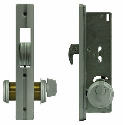 Security Sliding Door Mortise HookBolt Lock Set with Brass Cylinders For Adams