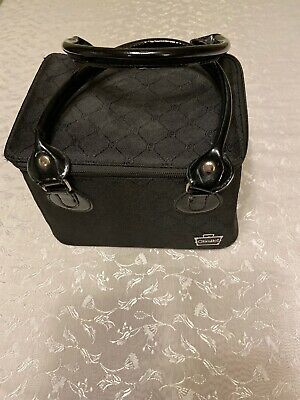 Caboodles 2012 Cosmetic Toiletry Makeup Soft Case Black Zipper Travel