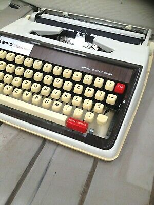 Retro LEMAIR 1350 By Brother) Portable typewriter.  Carry case Working order.