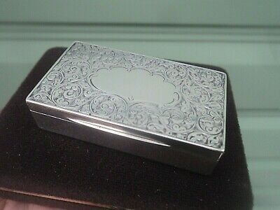 Victorian Art Nouveau Sterling Silver Snuff Box h/m Birmingham 1898 not engraved