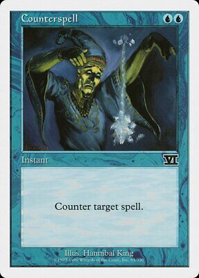 Counterspell 4th Edition HEAVILY PLD Blue Uncommon MAGIC GATHERING CARD ABUGames