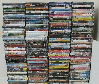 JOBLOT OF 200 X DVDs BULK WHOLESALE JOB LOT BUNDLE CARBOOT MARKET RESALE