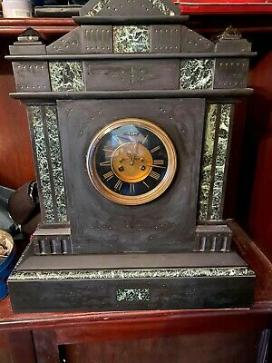 Marble and Slate mantle clock, very heavy