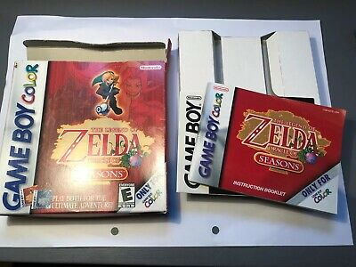 The Legend of Zelda: Oracle of Seasons - for GameBoy Color, box And Instructions