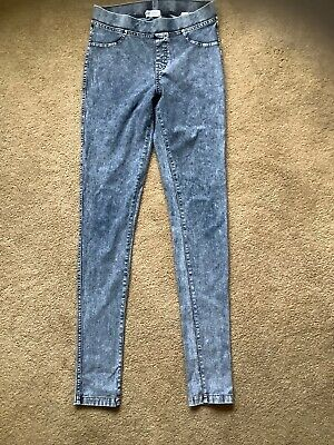 H&M girls blue jeggings jeans leggings AGE 13 - 14 YEARS EXCELLENT COND
