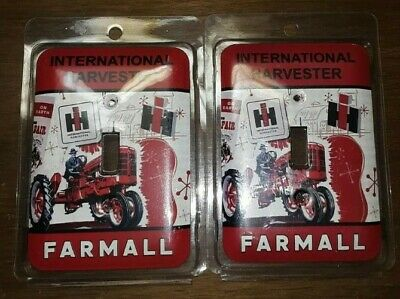 2 Metal Light Plate Switch Wall Cover Farmall International Harvester Tractor